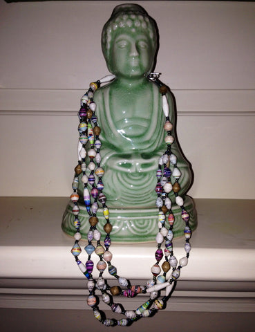 Karatasi 4-Strand Bead Necklace - A Fair Trade World