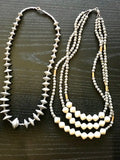 3-Strand  Chunky Smashing Necklace