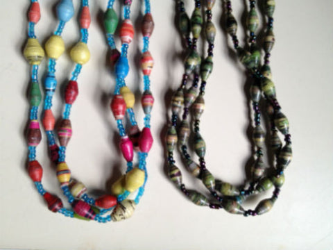 Laura | 3-Strand Bead Necklace - A Fair Trade World
