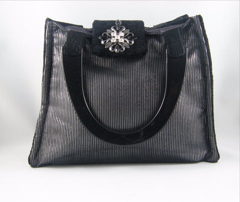 Black and Silver Hand Bag