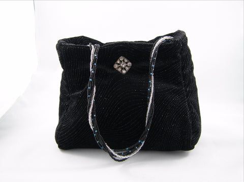 Black and Silver Evening Bag