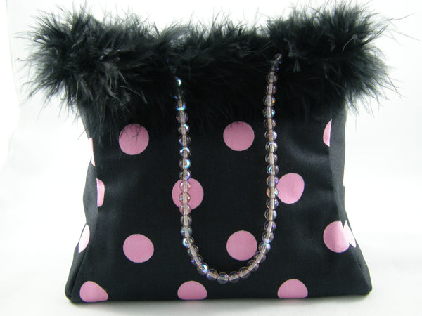 Black and Pink Evening Bag