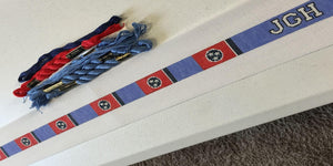 Tennessee Flag Needlepoint Belt Canvas - Needlepoint by Laura, LLC