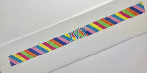 Striped Needlepoint Dog Collar Canvas - Needlepoint by Laura, LLC