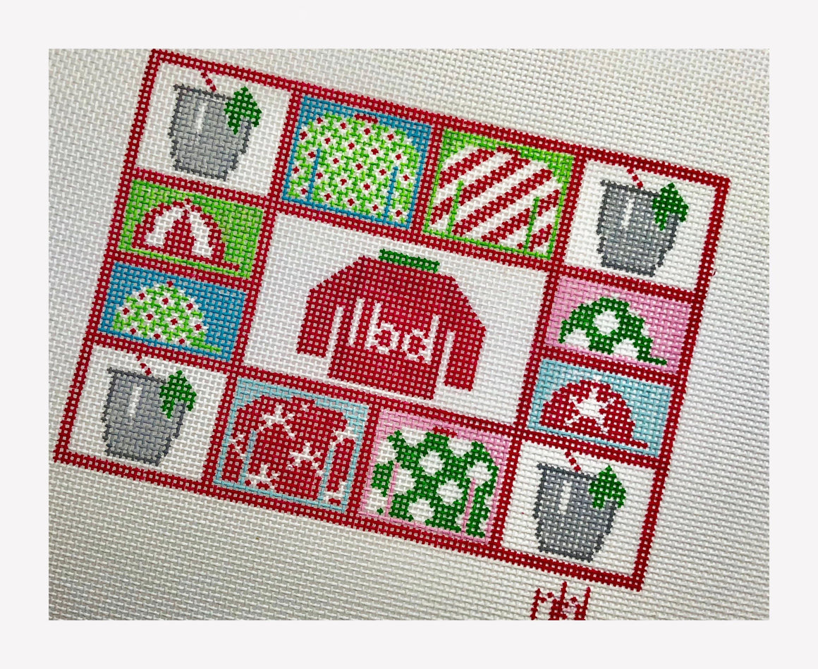 Derby Needlepoint Collage 5 by 7 - Needlepoint by Laura, LLC