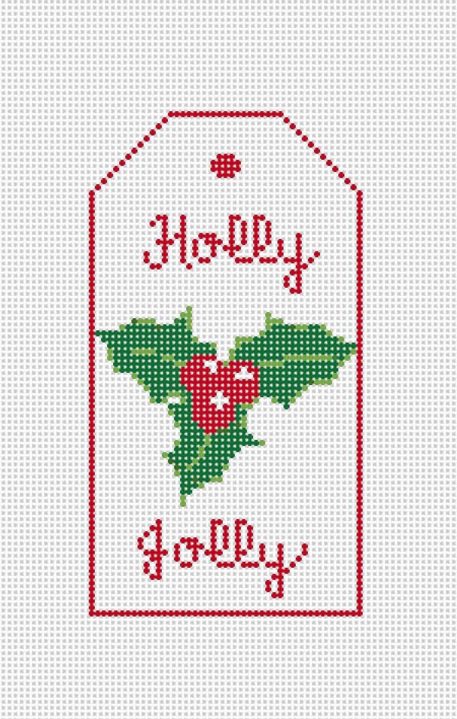 Christmas Gift Tag Holly