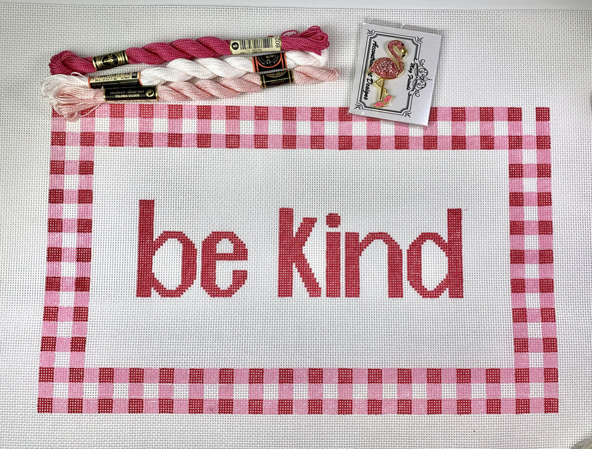 Be Kind Needlepoint Canvas - Needlepoint by Laura, LLC
