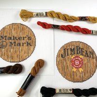 Bourbon Barrel Head Canvas- Makers - Needlepoint by Laura, LLC