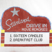 Drive in Movie Needlepoint Canvas