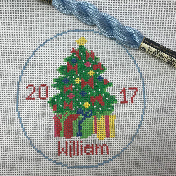 Christmas tree with presents Canvas - Needlepoint by Laura, LLC