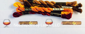 Cigar and Brandy Needlepoint Belt Canvas - Needlepoint by Laura, LLC