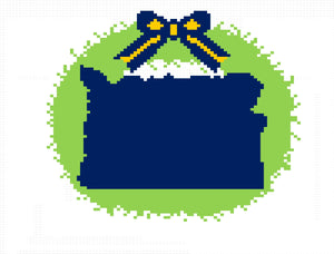 State of Kentucky Wreath ornament - Needlepoint by Laura, LLC