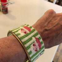 Santa Needlepoint Cuff Bracelet Kit - Needlepoint by Laura, LLC