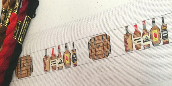 Bourbon Barrel Needlepoint Belt Canvas - Needlepoint by Laura, LLC