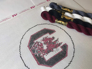 University of South Carolina Needlepoint Ornament Canvas - Needlepoint by Laura, LLC