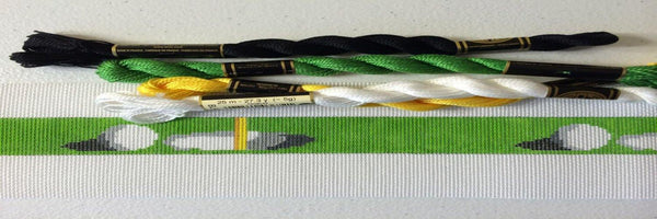 Get in the Hole Golf Needlepoint Belt Canvas - Needlepoint by Laura, LLC