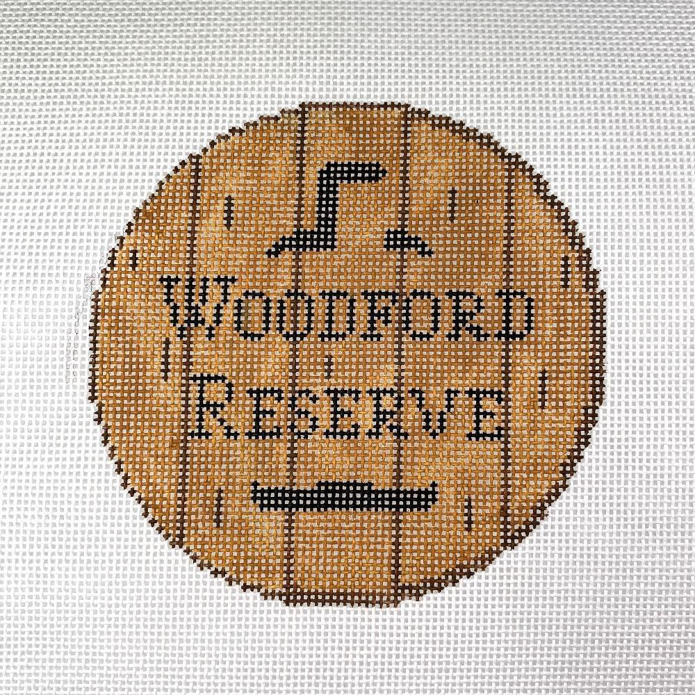 Bourbon Barrel Head Canvas-Woodford Reserve - Needlepoint by Laura, LLC