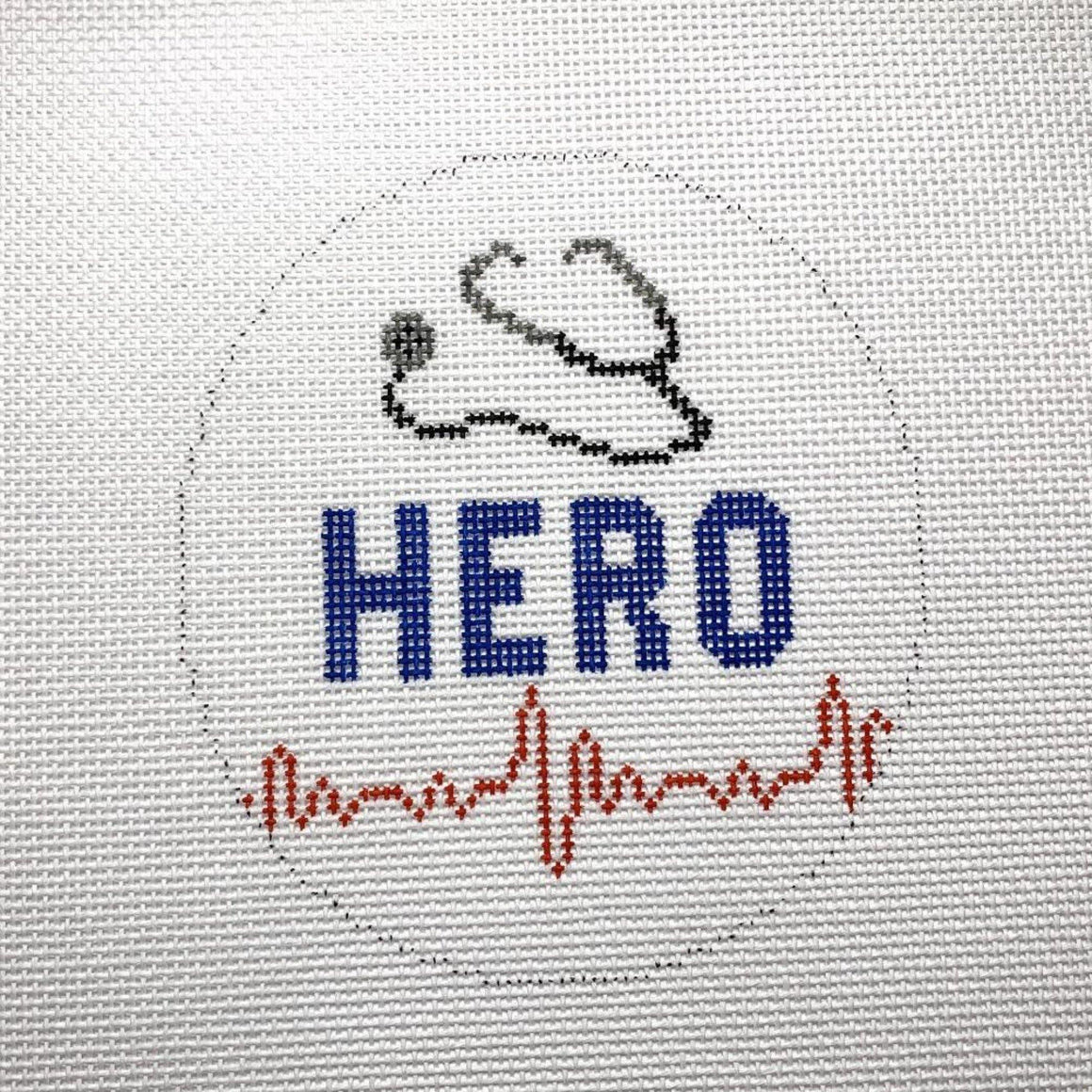 HERO Needlepoint Ornament - Needlepoint by Laura, LLC
