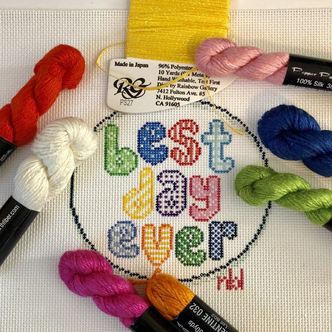 Best Day Ever Needlepoint Canvas - Needlepoint by Laura, LLC