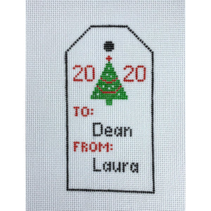 Christmas Gift Tag Ornament- Personalized