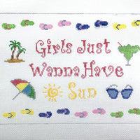 Girls just wanna have sun canvas - Needlepoint by Laura, LLC
