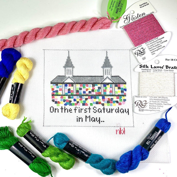 On the first Saturday in May - Needlepoint by Laura, LLC