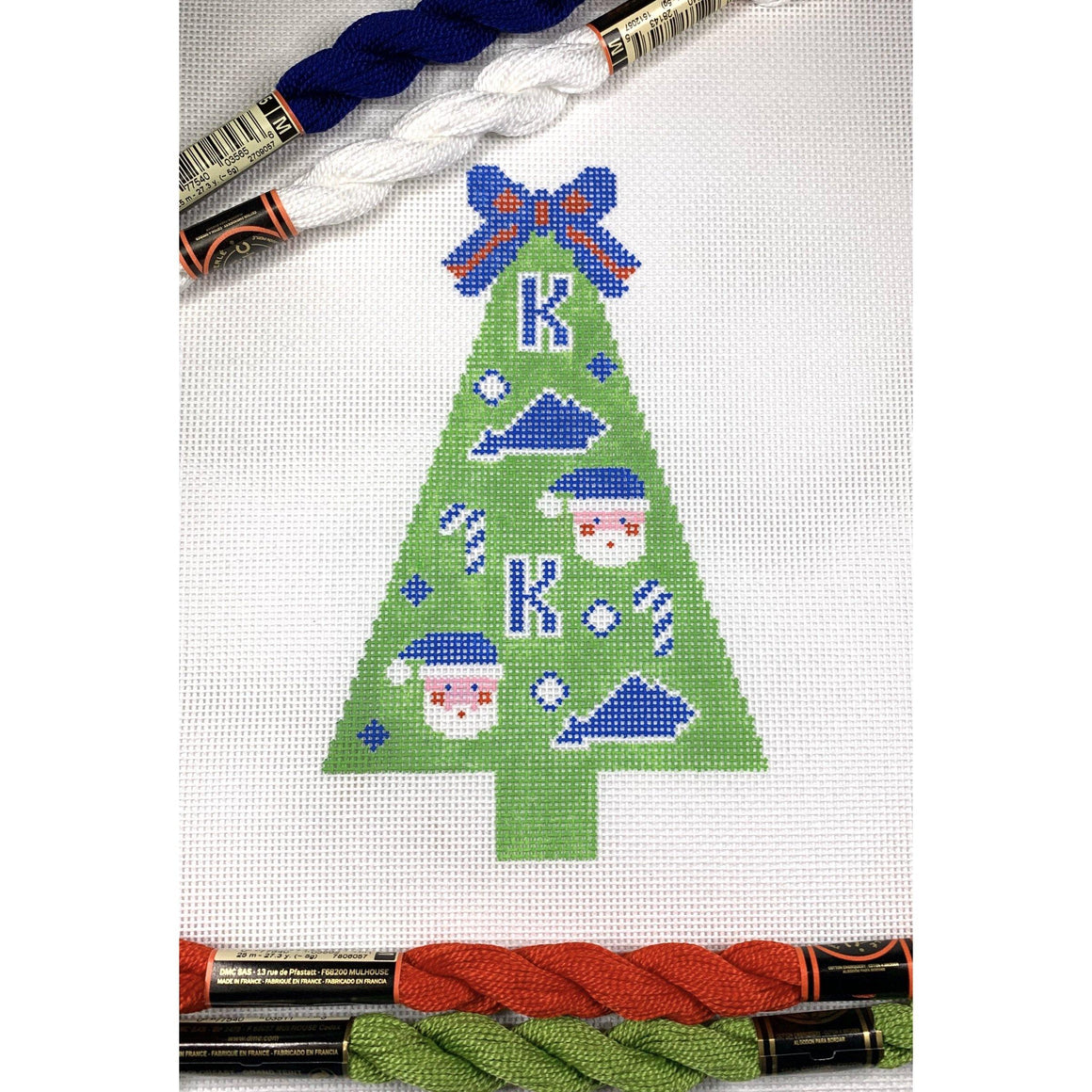 State of Kentucky Christmas tree needlepoint canvas - Needlepoint by Laura, LLC