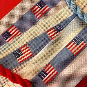 American flag needlepoint belt canvas - Needlepoint by Laura, LLC