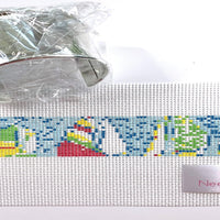 Sailboats Needlepoint Bracelet Cuff Kit - size 14 canvas