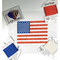 American Flag ornament - Needlepoint by Laura, LLC