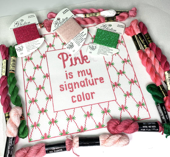 PINK is my signature color - Needlepoint by Laura, LLC