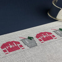 Jockey Silks And Mint Julep Needlepoint Bracelet Cuff Kit - Needlepoint by Laura, LLC