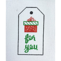 Christmas Gift Tag Ornament with present