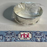 Chinoiserie Needlepoint Cuff Kit with Initials