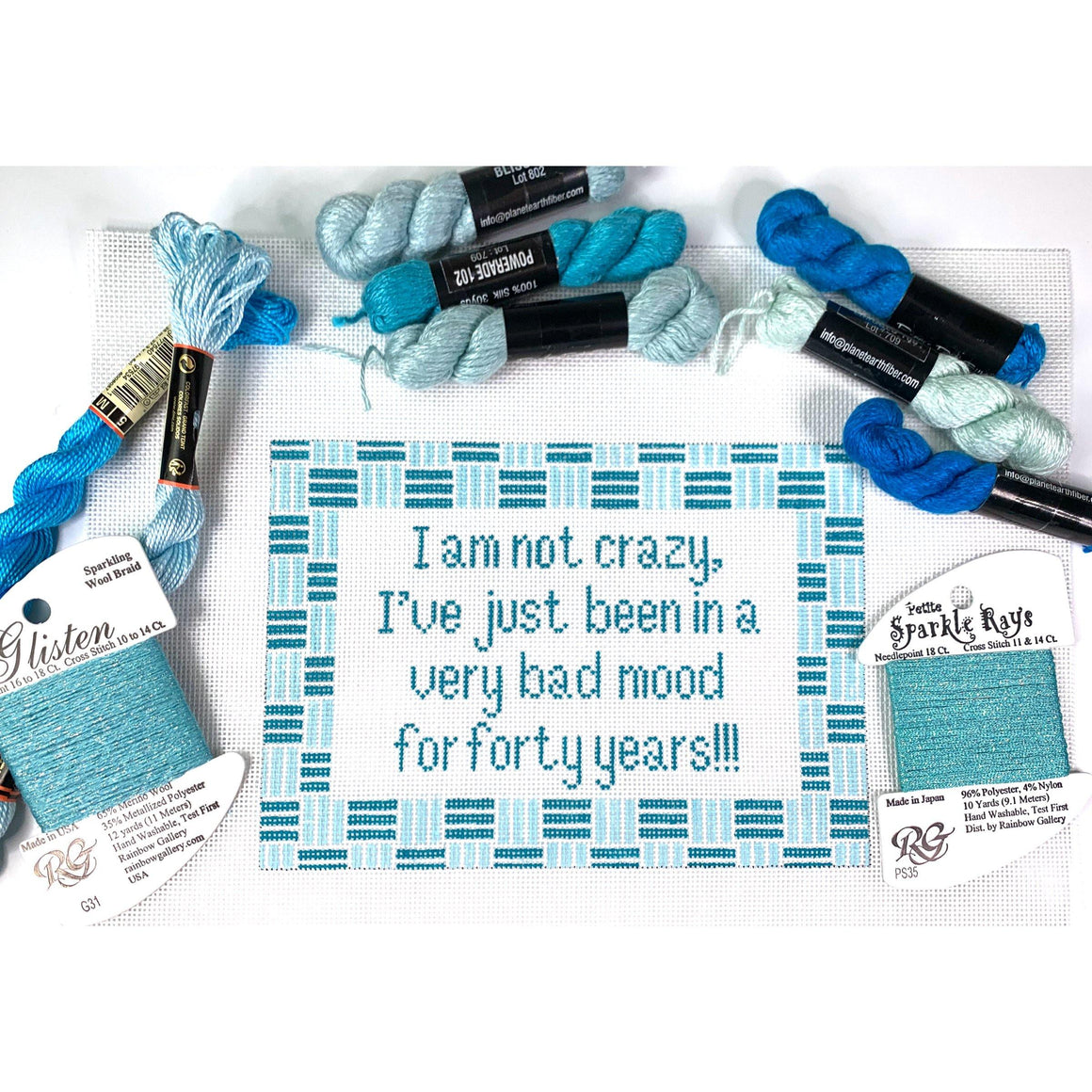 I am not crazy canvas - Needlepoint by Laura, LLC