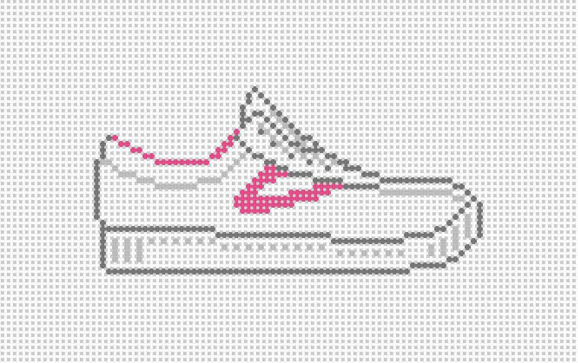 Tretorn needlepoint Canvas- pink