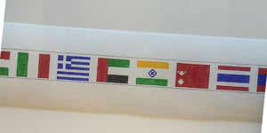 World Flags Needlepoint Belt canvas - Needlepoint by Laura, LLC