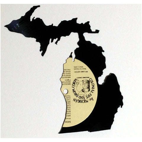 Michigan Silhouette Vinyl Record Art