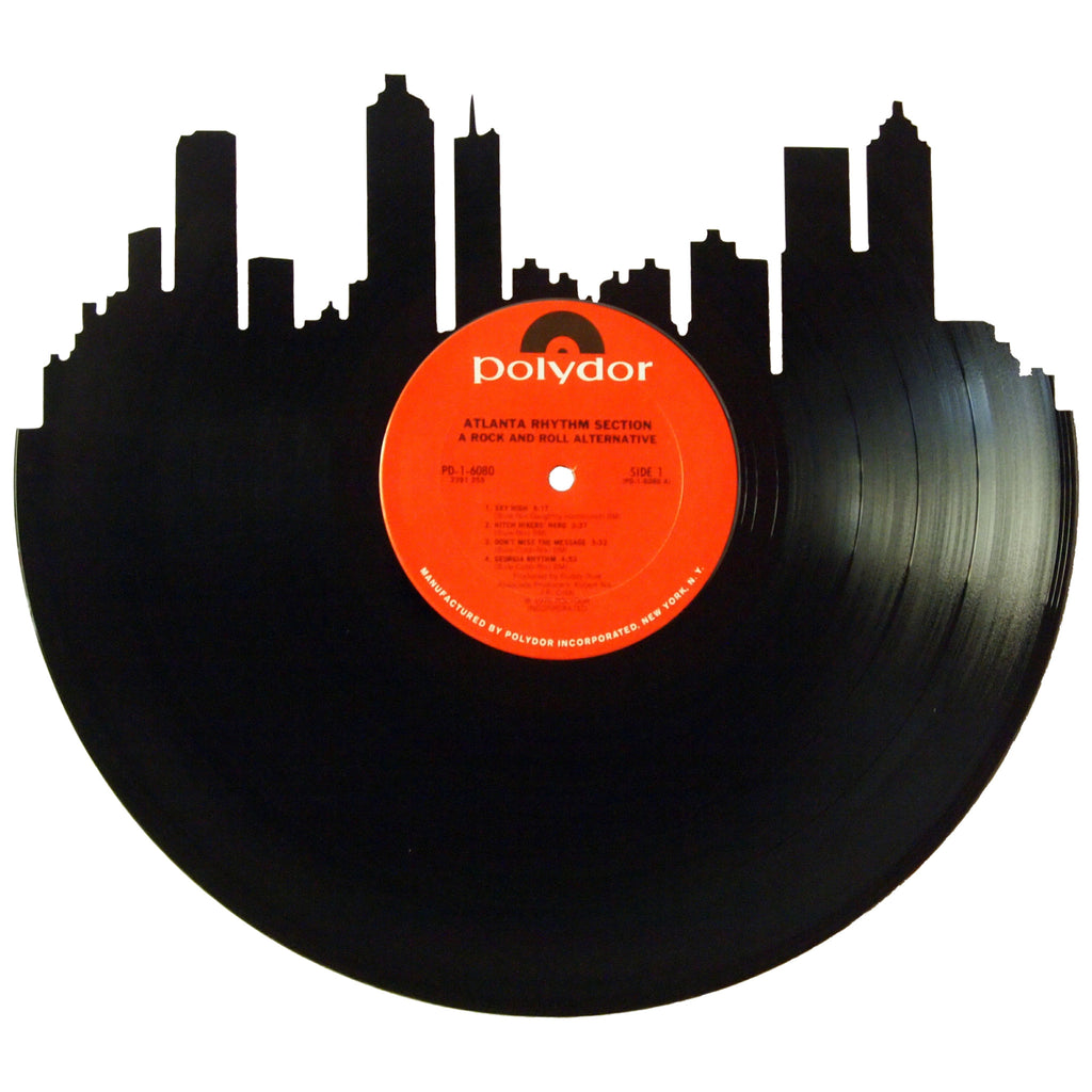 Atlanta Skyline Vinyl Record Art