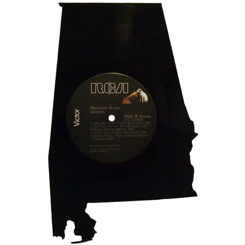 Alabama Silhouette Vinyl Record Art