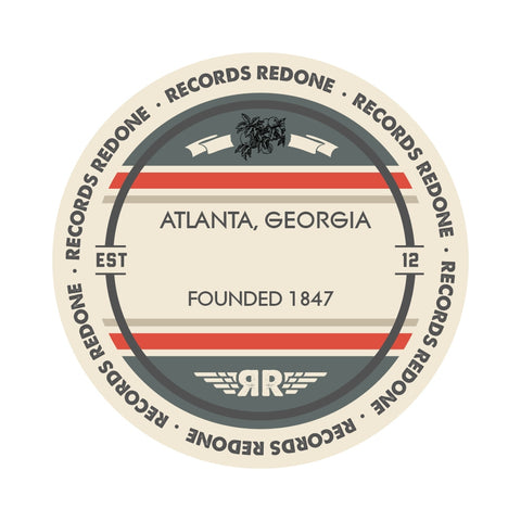 Atlanta Skyline Records Redone Label Vinyl Record Art