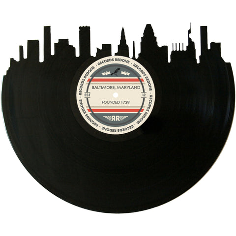 Baltimore Skyline Records Redone Label Vinyl Record Art