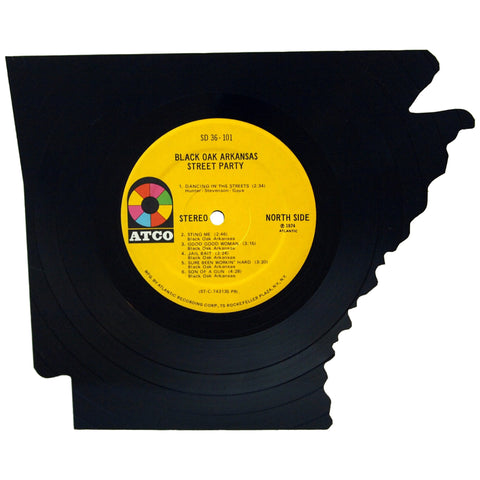 Arkansas Silhouette Vinyl Record Art