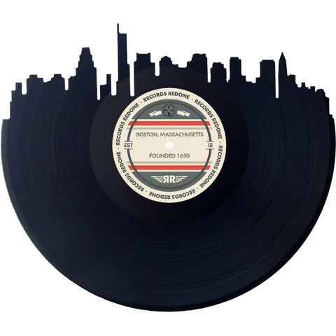 Boston Skyline Records Redone Label Vinyl Record Art