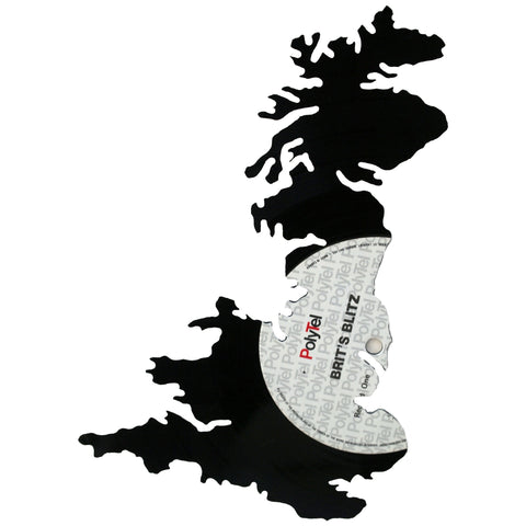 United Kingdom Silhouette Vinyl Record Art