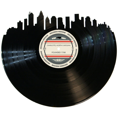 Charlotte Skyline Records Redone Label Vinyl Record Art
