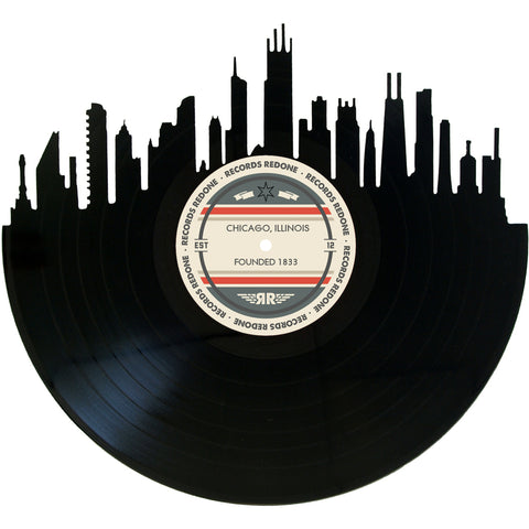 Chicago Skyline Records Redone Label Vinyl Record Art