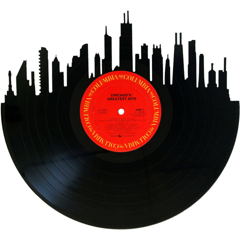 Chicago Skyline Vinyl Record Art
