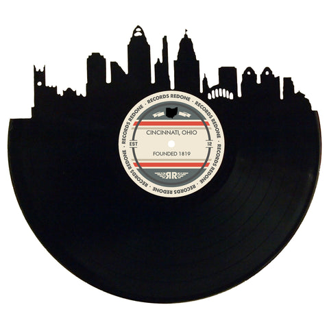 Cincinnati Skyline Records Redone Label Vinyl Record Art