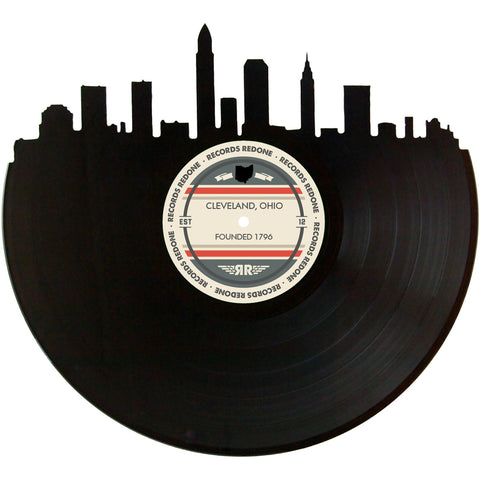 Cleveland Skyline Records Redone Label Vinyl Record Art
